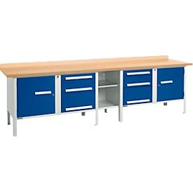 Schäfer Shop Select Banco de trabajo PW 300-2, gris luminoso/azul