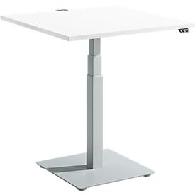 Schäfer Shop Select Beistelltisch FLEXXAS, elektrisch höhenverstellbar, ergonomisch, B 800 mm, weiß