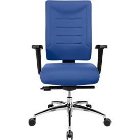 Schäfer Shop Select Bürostuhl SSI PROLINE P3+, Synchronmechanik, ohne Armlehnen, Lendenwirbelstütze, 3D-Sitzgelenk, blau
