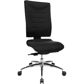 Schäfer Shop Select Bürostuhl SSI PROLINE P3, Synchronmechanik, ohne Armlehnen, Lendenwirbelstütze, Bandscheibensitz, schwarz