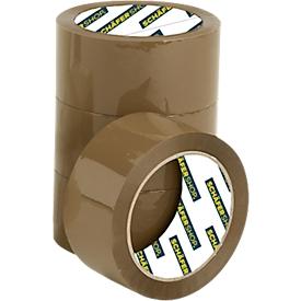 Schäfer Shop Select Cinta adhesiva de calidad , marrón, 36 rollos