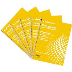Schäfer Shop  Select collegeblokken , A4, 80 vellen, 5 stuks, wit