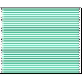 Schäfer Shop Select Computer Endlospapier, 1-fach grün liniert, 2000 Stück