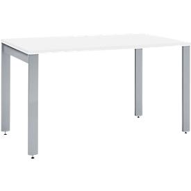 Schäfer Shop Select Escritorio LOGIN, 4 patas, rectangular, An 1200 x P 800 x Al 740mm, blanco