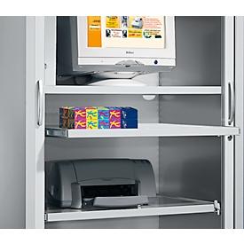 Schäfer Shop Select Estante extensible, aluminio blanco, anchura 1200mm