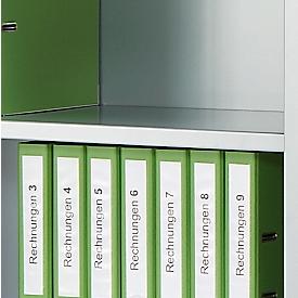 Schäfer Shop Select Estante intermedio, para armario de puertas correderas, aluminio blanco RAL 9006, 1200 x 325mm, 2 unidades