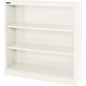 Schäfer Shop Select Estantería de acero MS iCOLOUR, 3 alturas de archivo, An 950 x P 400 x Al 1215mm, blanco RAL 9003