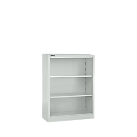 Schäfer Shop Select Estantería de acero MS iCONOMY, 3 alturas de archivo, An 800 x P 400 x Al 1215mm, gris luminoso RAL 7035