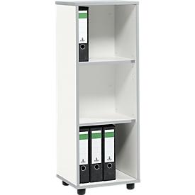 Schäfer Shop Select Estantería MOXXO IQ, madera, 3 compartimentos, 3 AA, An 401 x P 362 x Al 1115mm, blanco