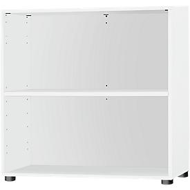 Schäfer Shop Select Estantería Start Up, An 800 x P 420 x Al 726mm, 2 AA y 1 estante, blanco