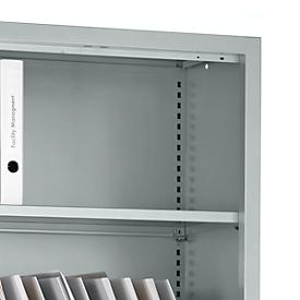 Schäfer Shop Select Fachböden MS iCONOMY, inklusive Halterung, B 800 mm, 2 Stück, lichtgrau