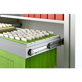 Schäfer Shop Select Hängerahmen, 2-bahnig, 1200 mm breit, weißaluminium