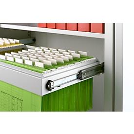Schäfer Shop  Select hangframe, 2 rijen, 1200 mm breed, lichtgrijs
