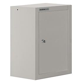 Schäfer Shop  Select Hangkast MS 420, B 420 x D 320 x H 600 mm, aluminium zilver, romp aluminium zilver