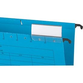 Schäfer Shop  Select hangmappen, voor formaten tot A4, met soufflets aan de zijkant, blauw