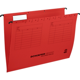Schäfer Shop  Select hangmappen, voor formaten tot A4, opening aan de zijkant, rood