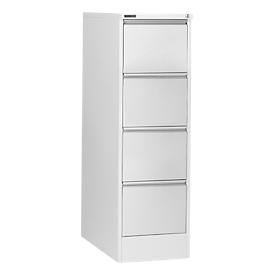Schäfer Shop  Select hangmappenkast H24ES, 1 rij, 4 schuifladen, 425 x 600 x 1350 mm lichtgrijs