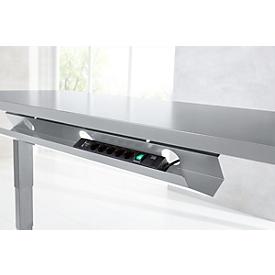 Schäfer Shop Select Kabelkanal, Metall, f. elektrisch höhenverstellbaren Schreibtisch Elements, abklappbar, silber