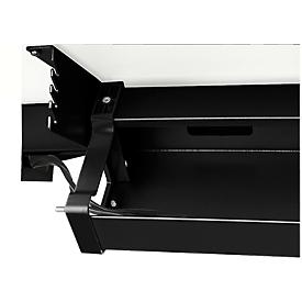 Schäfer Shop Select Kabelwanne Standard, für höhenverstellbare Schreibtische ab B 1400 mm, abklappbar, schwarz