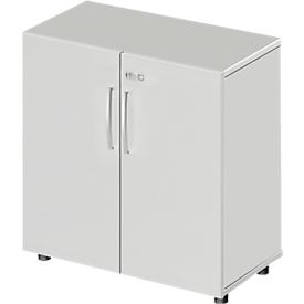 Schäfer Shop  Select Kast LOGIN, 2 ordnerhoogten, H, B 800 x D 420 x H 744 mm, lichtgrijs/lichtgrijs