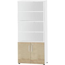 Schäfer Shop Select Kombischrank SET UP, 6 OH, weiß/Eiche-Dekor