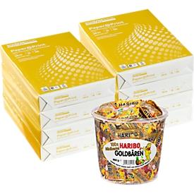Schäfer Shop Select Kopierpapier  Paper@Print, DIN A4, 80 g/m², weiß, 1 Karton = 20 x 500 Blatt + GRATIS 1 Box Haribo Goldbären