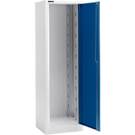 Schäfer Shop  Select Materiaalkast MS 2506, B 600 x D 500 x H 1935 mm, aluminium zilver/gentiaanblauw
