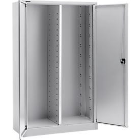 Schäfer Shop  Select Materiaalkast MS 2512, B 1200 x D 500 x H 1935 mm, aluminium zilver
