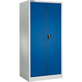 Schäfer Shop  Select Materiaalkast MSI 2609 S, belastbaar tot 100 kg per legbord, H 1935 mm, lichtgrijs/gentiaanblauw