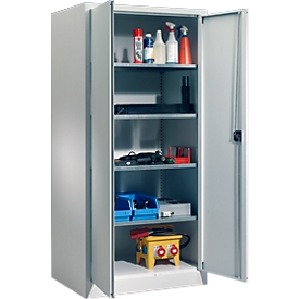 Schäfer Shop Select Material del armario MSI 2509 S, ancho 950 x fondo 500 x alto 1935 mm, aluminio blanco RAL 9006