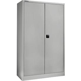 Schäfer Shop Select Material del armario MSI 2512 S, ancho 1200 x fondo 500 x alto 1935 mm, aluminio blanco RAL 9006