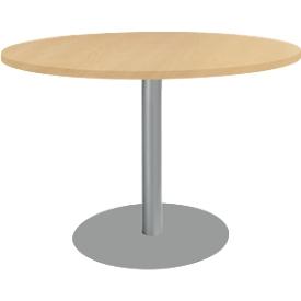 Schäfer Shop Select Mesa con base circular, ø 1200 x Al 617-817mm, haya