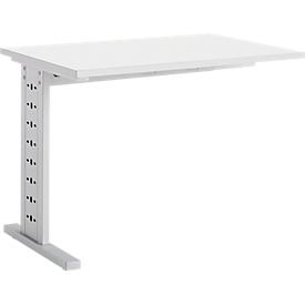Schäfer Shop Select Mesa extensible MOXXO IQ, rectangular, pie C, ancho 1000 x fondo 600 x alto 735 mm, blanco