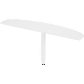 Schäfer Shop Select Mesa extensible PLANOVA ergoSTYLE, elipse, W 1600 mm, blanco/blanco