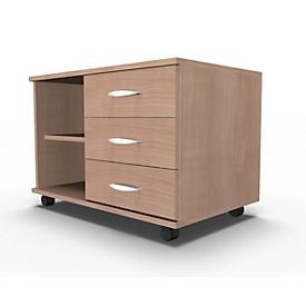 Schäfer Shop  Select Mobiel sideboard, archiefrek + 3 schuifladen + materiaallade, B 800, rechts monteerbaar, kersen-Romana