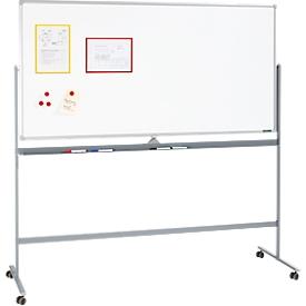 Schäfer Shop  Select Mobiel whiteboard, met draaibaar bord, met 4 zwenkwielen, 900 x 1200 mm