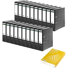 Schäfer Shop Select Ordner, DIN A4, 80 mm, 20 Stück + GRATIS  Kopierpapier