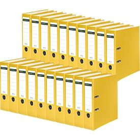 Schäfer Shop Select Ordner, DIN A4, Rückenbreite 80 mm, 20 Stück, gelb
