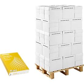 Schäfer Shop Select Papel de copia  Paper@Print, DIN A4, 80 g/m², blanco, 1 palet = 200 x 500 hojas + carro de plataforma GRATIS