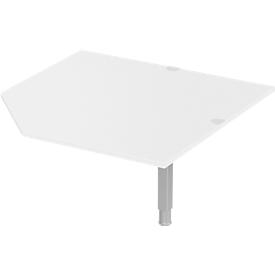 Schäfer Shop Select Placa angular PLANOVA ergoSTYLE, CAD, W 1200, blanco