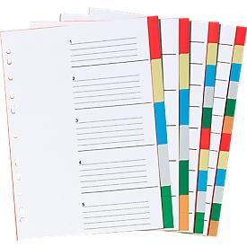 Schäfer Shop  Select PP indexbladen in kleur A4, gebruik naar eigen inzicht, 5 bladen, 5-kleurig, 10 stuks