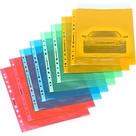 Schäfer Shop Select Prospekthüllen, DIN A4, oben offen, 25 Stück, gelb