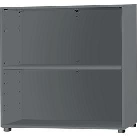 Schäfer Shop Select Regal, 2 OH, B 800 x T 420 x H 744, graphit