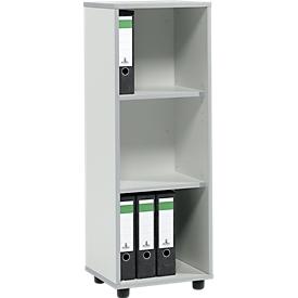 Schäfer Shop Select Regal MOXXO IQ, Holz, 3 Fächer, 3 OH, B 401 x T 362 x H 1115 mm, lichtgrau