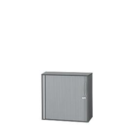Schäfer Shop  Select Roldeurkast Start Up, 2 ordnerhoogten, afsluitbaar, B 800 x D 420 x H 744 mm, hout, grafiet