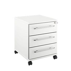 Schäfer Shop Select Rollcontainer Moxxo IQ 333, 3 Schübe, B 410 x T 495 x H 510 mm, abschließbar, weiß