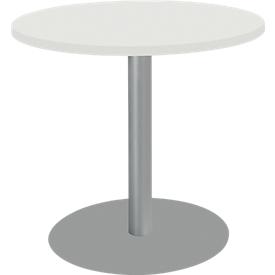 Schäfer Shop  Select Ronde tafel met ronde schotelvoet, Ø 800 x H 717 mm, Ø 800 x H 717 mm, wit