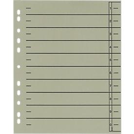 Schäfer Shop  Select scheidingsbladen met tabs, A4-formaat, gelinieerd, 100 stuks, grijs
