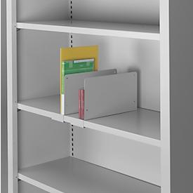 Schäfer Shop Select Separador estantes, 170 x 320mm, gris luminoso