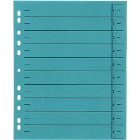Schäfer Shop Select Separadores  con pestañas, formato DIN A4, impresión lineal, 100 unidades, azul